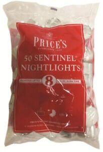 50 Prices Tea Night Lights Candles 8 HOUR BURN Unscented Tealights Nightlight