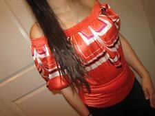 NEW Women's BEBE Orange 95% Silk Off the Shoulder Blouse Shirt Top tunic tank S