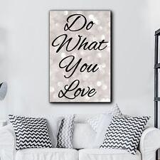 "Inspirational Quote ""Do What You Love"" Black Script-Canvas Art Home Decor-16x24"