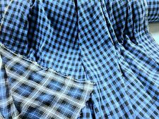"""Gauze Yarn Dyed 2 Ply Reversible Plaid Blue 100% Cotton 56"""" Wide Fabric By Yard"""