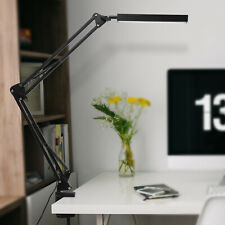Desk Lamp Long Arm Adjustable Bedroom Study Light Office Home  USB