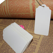 100pcs 45*95mm Kraft Paper Gift Tags Wedding Scallop LFTel Blank Luggage Tag KY