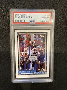 1992 Topps SHAQUILLE O'NEAL RC Near MINT PSA 8 - New Holder!