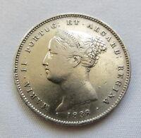 PORTUGAL 200 reis 1838 XF RARE Maria II. #AA12