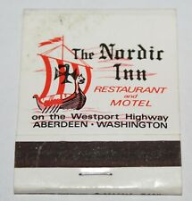 The NORDIC INN MOTEL Aberdeen Washington Matchbook Vintage Advertising