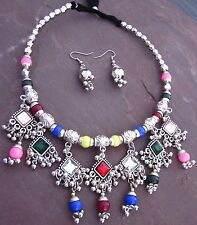 Silver Vintage Kuchi Tribal JEWELRY set Bellydance Gypsy Hippie Boho Tibet