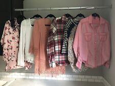 Buckle Lot of 6 Women's Size Medium Tops Shirts Roxy, Boutique, BKE