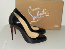 CHRISTIAN LOUBOUTIN BLACK FIFI PATENT LEATHER PUMPS SIZE 36.5