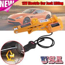 Automotive Electric Scissor Car Jack Lifting Impact Wrench Tools Kit 12V 2 Ton