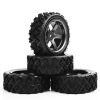 4PCS Tyre Tires&Wheel Rim for HPI HSP Rally RC 1:10 Racing Off Road Car D5M+487