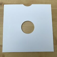 "50 High Quality 10"" White Card 78RPM Record Sleeves"
