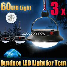 3x Ultra Bright 60 LED Outdoor Camping Tent Light Lantern Hiking Fishing Lamp UK