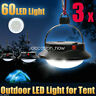 3x Ultra Bright 60 LED Outdoor Camping Tent Light Lantern Hiking Fishing Lamp UK