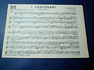 """SPARTITO MUSICALE - VIDALE ARONA - SPARTITO """" I LEGIONARI - ALBA GLORIOSA -"""