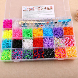 4400Pcs Rubber Bands For Kids Bracelet Making Crafts Rainbow Rubbers Loom DIY