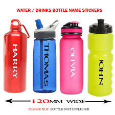 2 x PERSONALIZED WATER  DRINKS BOTTLE NAME STICKERS FOR SCHOOL BIKE FOOTBALL N11