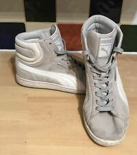 4487e3cb5442 PUMA Men s Grey First Round Hi Suede UK 6 EU 39 351245 09