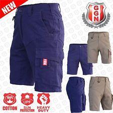 Men's Cargo Work Shorts, Cotton Drill Work Wear 13 pockets Modern Fitting