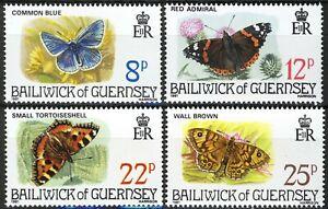 Guernsey 1981, Butterflies set MNH, Mi 218-221 2,5€