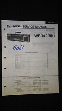 sharp wf-342 bk Service Manual Original Repair book boombox ghettoblaster tape