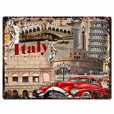 PP0784 Italy Classic Old Car Chic Plate Sign Home Shop Restaurant Cafe Decor