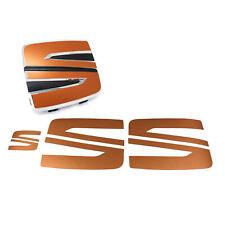 Emblem Folie Logo Set Kupfer Matt für Seat Arona Zubehör Aufkleber Tuning K114