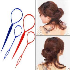 2 Piece Hair Braid Topsy Twist Styling Loop Ponytail Maker Styling Tool