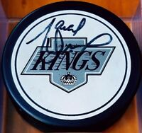 Marcel Dionne SIGNED LOS ANGELES KINGS VINTAGE GAME PUCK NHL ZIEGLER TRENCH RARE