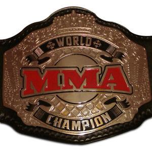 MMA Wrestling Championship Belt 2MM  Plates Adult Size