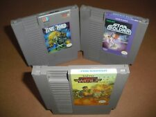 Operation Wolf, Star Soldier & Time Lord in VERY GOOD COND for NES Nintendo!