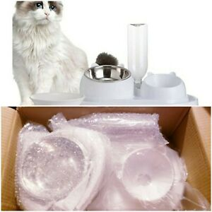 Double Dog/Cat Bowl. Food And Water Bowl Set. Automatic Water Dispenser.
