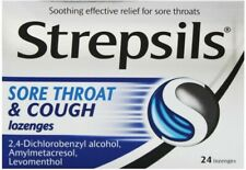 Strepsils Sore Throat And Cough Lozenges - 3 Pack x 24 Lozenges