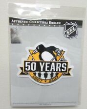 PITTSBURGH PENGUINS 50th ANNIVERSARY OFFICIAL NHL JERSEY PATCH EMBLEM