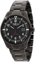 Alpina Startimer Pilot Men's Quartz Black Dial Bracelet 42mm Watch AL-240B4FBS6B