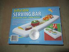 QTY 2 INFLATABLE SERVING BAR BUFFET PICNIC CAMPING TABLE ICE COOLER PARTY