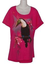 Plus  Size 4X  Pink with Toucan Graphics 26w-28w JMS  Shirt
