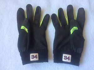 David Ortiz Game Used Batting Gloves Green 2016