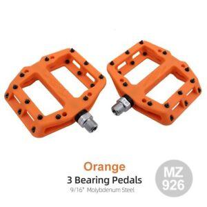 MZYRH Ultralight 3 Bearings Nylon Bicycle Pedals Flat MTB BMX Road Bike Pedals