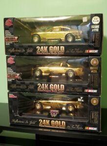 Lot Of 3 1998 1999 Nascar 24k Gold Plated Precious Metals & Commemorative Series