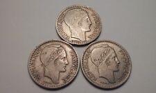 France 10 Francs Coins 1946-1948-1949