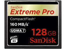 SANDISK Extreme Pro Compact Flash Speicherkarte 128 GB 160 MB/s NEU/OVP