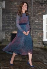New LK Bennett Addison Printed Silk Dress Sz UK 8 10