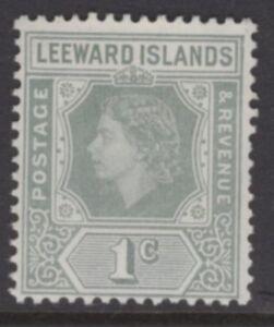 LEEWARD ISLANDS SG127 1954 1c GREY MNH