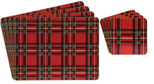 LEONARDO Collection Royal Stewart Tartan Set of 4 Cork Backed Placemats