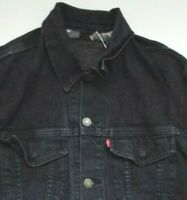 LEVI'S 79996 0001 DENIM COMMUTER TRUCKER JACKET LARGE DARK BLUE STRAUSS LJKTA867