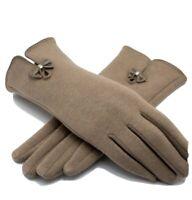 Womens Winter Touch Screen GlovesWarm Fleece Lining Driving Texting Gloves-Khaki