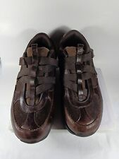 MENS Skechers Shape Walking shoes Brown Leather Sneakers Size 9 strap on