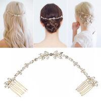 Wedding Crystal Hair Combs Bridal Hair Vine for Brides and Bridesmaids
