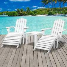 2 Seater Outdoor Sun Lounge Beach Pool Chair Table Wooden Timber Lounger Set