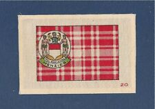 CLAN MENZIES CLAN TARTAN Coat of Arms original 1927 silk tartan Siol na Monnrich
